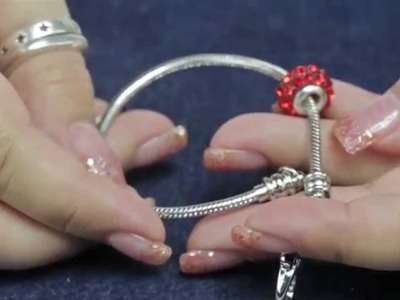 Using the Antique Silver Plated 35mm Snake Chain Bracelet, Add-A-Bead