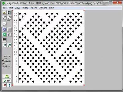 20 DAK 8   Graphics   Conversion of a Knitting Machine Punchcard Pattern