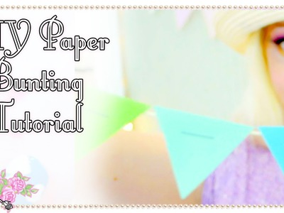 3 Ways To Make Paper Bunting - Craft Tutorial - Violet LeBeaux