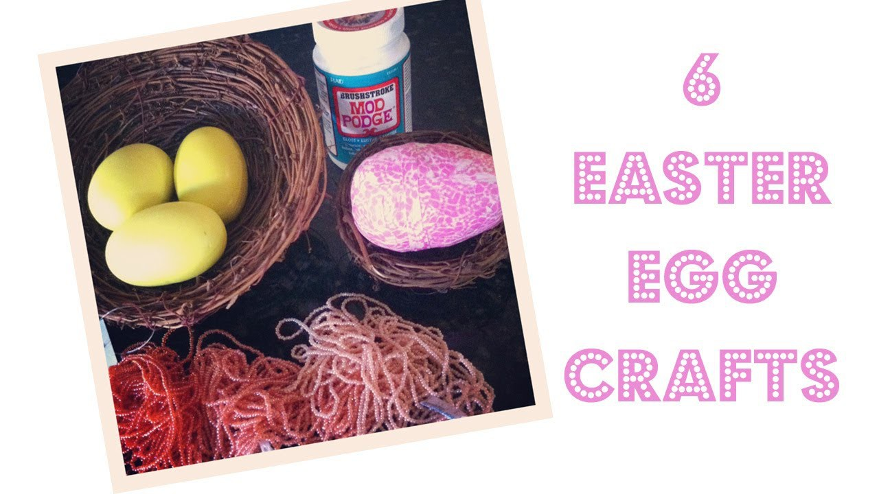 6 DIY Easter Egg Crafts with Mod Podge and Paint