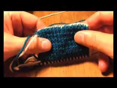 A Sockmatician Tutorial - Two-Colour Alternating Invisible Cast On for Double-Knitting