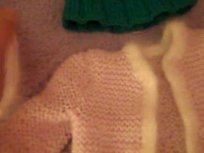 All My home made knit American girl doll things