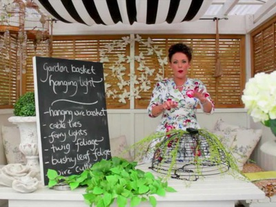 Arts and Crafts Tutorial: Garden Basket Hanging Light