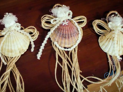 Arts and Crafts Tutorial: How to Make SeaShell Fairy Christmas Tree Decorations