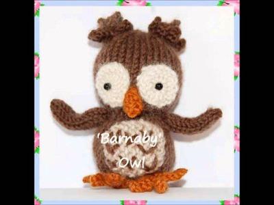 Barnaby Night Owl Bird Animal Baby DK Yarn Amigurumi Soft Toy Knitting Pattern