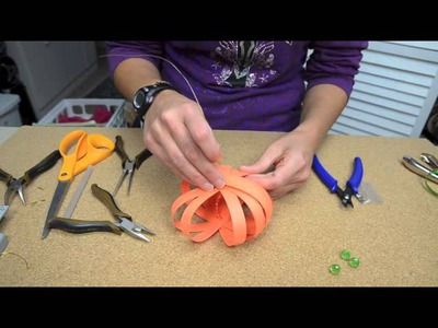 Bowdabra Craft Tutorial Make a Paper Pumpkin for Your Thanksgiving Dinner Table