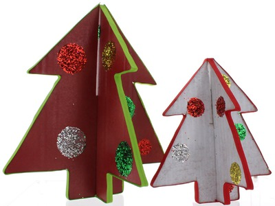 Cardboard Christmas Tree Craft Tutorial