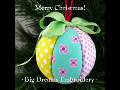 Christmas Craft Tutorial - Fabric Covered Polystyrene Balls