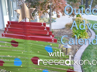 Christmas Crafts: Outdoor Advent Calendar DIY