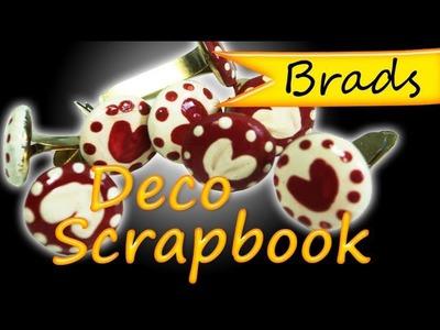 Como Hacer Brads de Corazones *Brads Scrapbook Ideas* tutorials Scrapbooking DIY Pintura Facil