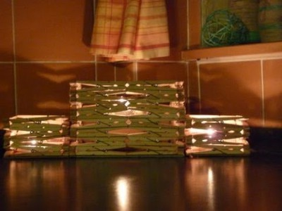 Craft ideas: Candle holder made from wooden pegs tutorial