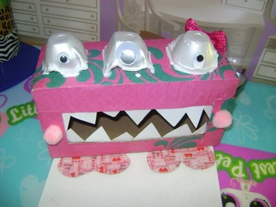 CRAFT TIME: How To Make A Silly Monster V-Day Card Box