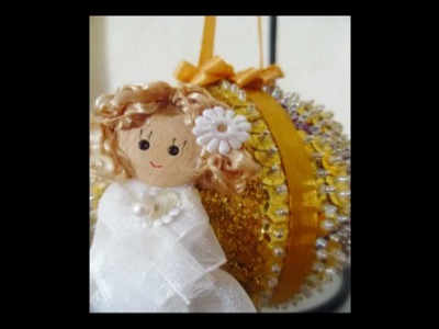 Craft Tutorial - Flower Angel Sequin Ornament HD