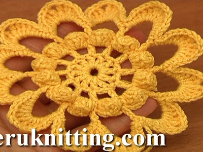 Crochet 12-Petal Flower Tutorial 89