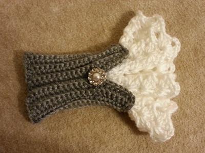 #Crochet Beautiful Victorian Style Wrist Arm Cuff #TUTORIAL crochet womens