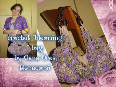Crochet blooming bag
