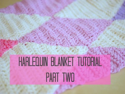 CROCHET: Harlequin. Diamond blanket Part 2 | Bella Coco