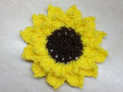 Crochet Large Sunflower #TUTORIAL