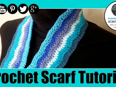 Crochet Lazy Chevron Wave Scarf Blanket Tutorial