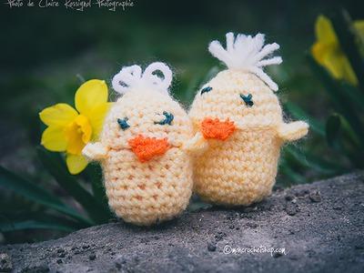 Crochet pour débutant. Poussin Kinder Surprise. Facile