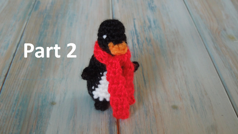 (crochet) Pt2: How To Crochet a Mini Penguin - Yarn Scrap Friday