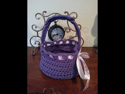Crochet quick and easy beginner easter basket DIY tutorial