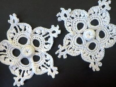 Crochet snowflake -  как вязать снежинку