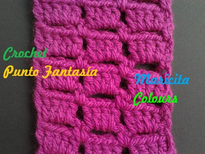 "Crochet Tutorial Punto Fantasía ""Rose"" Fantasy Stitch Subtitles English and Deutsch"