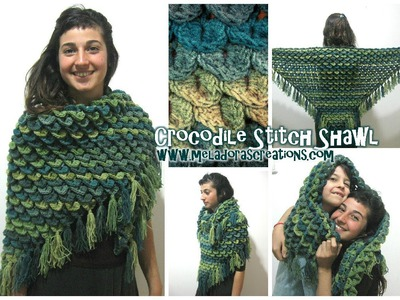 Crocodile Stitch Shawl REVISED - Crochet Tutorial