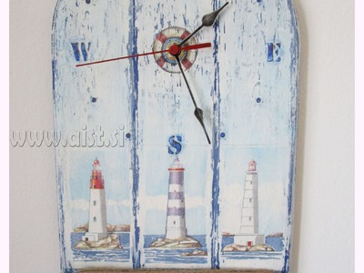 Decoupage tutorial - DIY. Shabby chic. How to make a clock. Craft tutorial - Handmade gift idea.