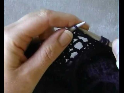 DIAGONAL LACE STITCH IN THE ROUND -  How To Knit This Beautiful Lace Stitch