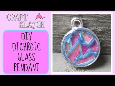 Dichroic Glass Pendant DIY Craft Klatch Jewelry Series