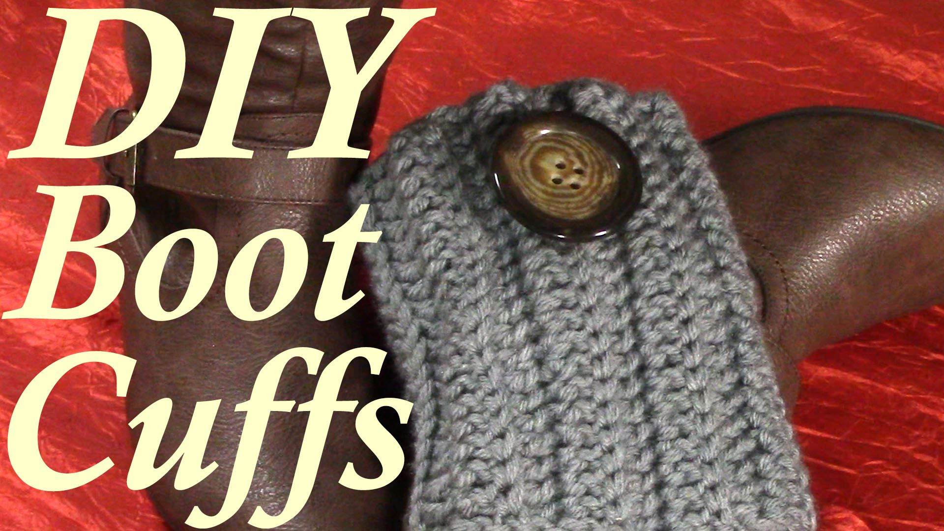 DIY 30 minutes Quick Boot Cuffs, Tutorial, Crochet Pattern