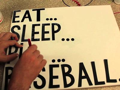 DIY Baseball Canvas | Sizzix Teen Craft