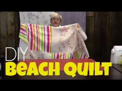 DIY Beach Blanket Quilt from 2 Bath Towels