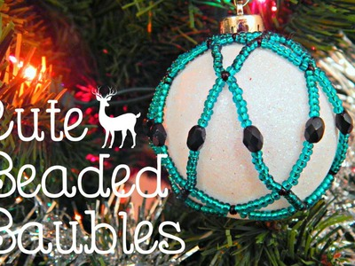 DIY Beaded Bauble.Christmas Tree Ornament (collab with SoCraftastic) ¦ The Corner of Craft