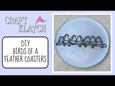 DIY Birds Of A Feather Coasters   Another Coaster Friday Craft Klatch