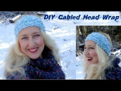 DIY Cable Knit Head Wrap (pattern in description)