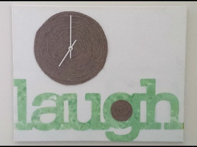 DIY Canvas Wall Clock