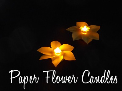 DIY Crafts: How To Make An Easy Paper Candle Decoration