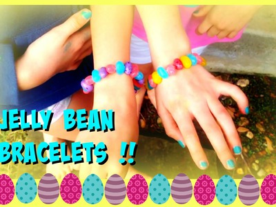 DIY Crafts Jelly Bean Bracelets   How to make Bracelets with Jelly Beans   DIY Spring Gifts