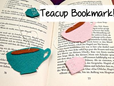 DIY Cute Felt Tea Cup Bookmark! ¦ The Corner of Craft