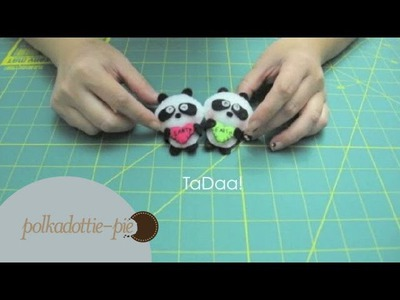 DIY Cute Panda - Felt Craft Tutorial - Happy Earth Day!