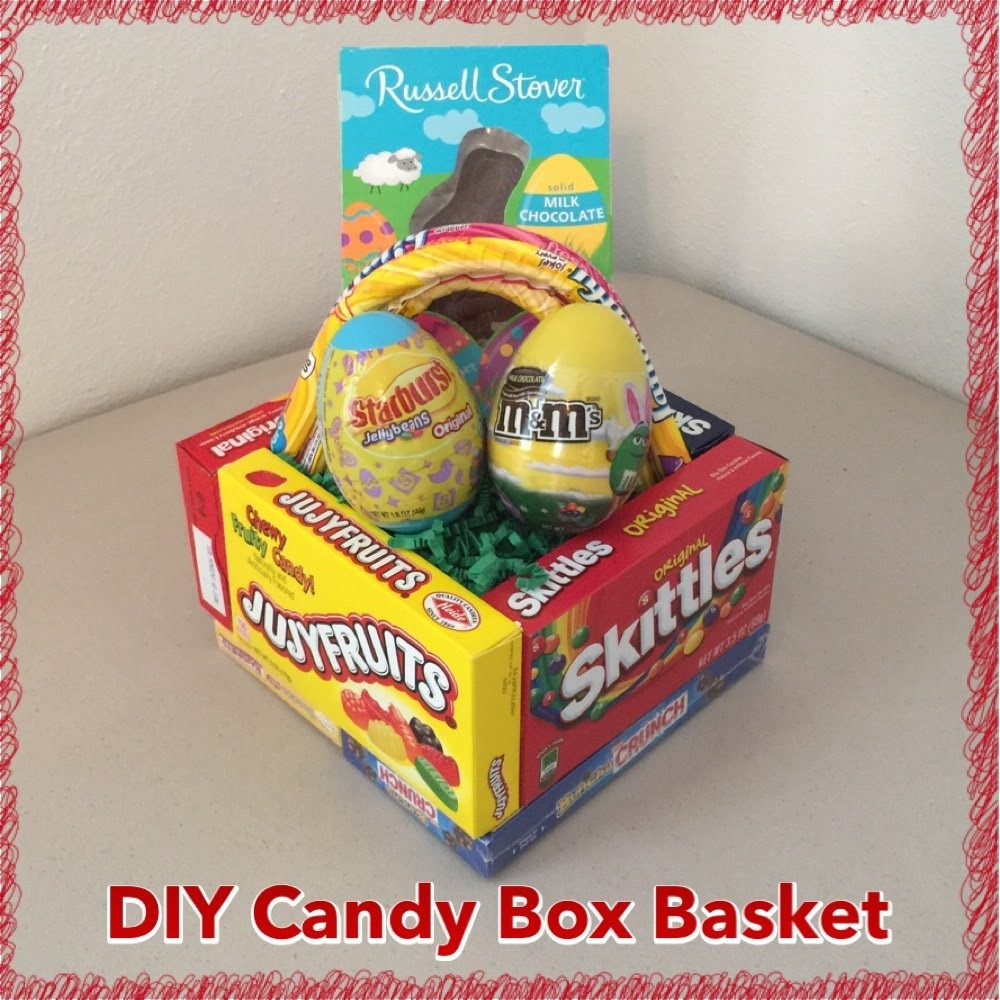 DIY Edible Candy Box Easter Basket Tutorial (Pinterest Inspired Craft)