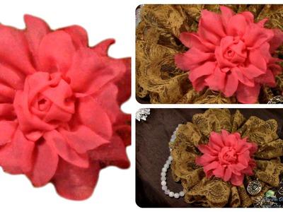 DIY Fabric Flower, Rose, Tutorial, DIY Presents