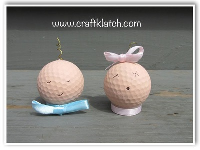DIY Golf Ball Babies Baby Shower Recycling Craft How To