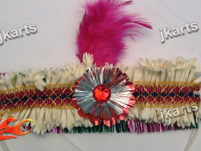 DIY How to make Fresh Flower Mukut for God (Crown. Designer Tiara) - JK Arts 181