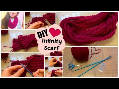 ♡ DIY Infinity Scarf | Easy Knit Pattern for Beginners ♡