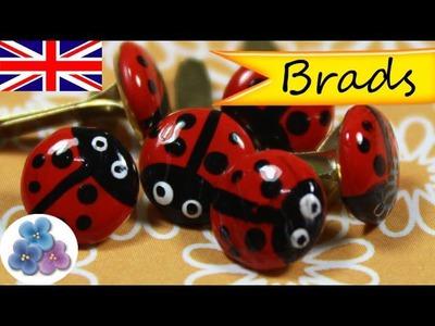 DIY Ladybugs Brads *Brad Craft* Deco Scrapbook ideas Create and Craft Ideas Pintura Facil