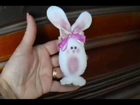 DIY Little felt easter bunny, Hand sewing tutorial.